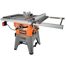 ridgid 13 amp 10 in professional cast iron table saw