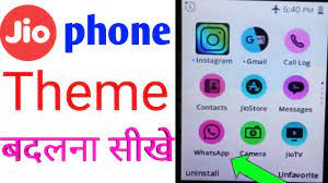 Jio phone theme change