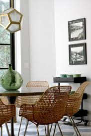 woven dining room chairs great 10 lessons we learned from nate berkus winter whitewoven dining chairswoven chairwicker dining room