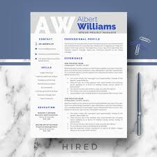 Resume Word Template Modern Professional Resume Template Modern Resume Cv Templates For Word Pages Instant Download Resume Cv Design 2 3 Page Us Letter A4