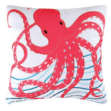 pink octopus pillow  cf home
