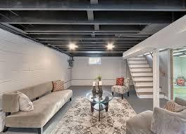 Enchanting Basement Lighting Ideas Unfinished Ceiling Photo Decoration Ideas