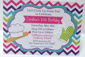 Class Party Invitation Cooking Invitation Chef Invitation Baking Invitation Cooking Party