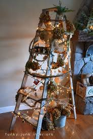Vintage Ladder Tree by Funky Junk Interiors | Totally cool and unique  Christmas tree ideas!