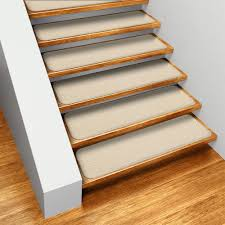 carpet stair treads. amazon.com: set of 15 skid-resistant carpet stair treads - ivory cream 8 in. x 27 several other sizes to choose from: kitchen \u0026 dining