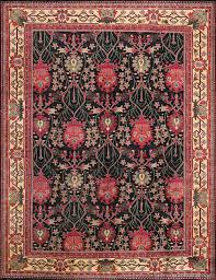 rugsville arts craft black gold wool rug 10816 10816