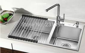 undermount kitchen sinks stainless steel. 800*450*220mm Stainless Steel Undermount Kitchen Sinks Sets Double Bowl Drawing Drainer
