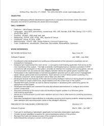 Resume Format Software Engineer Software Engineer Resume Samples