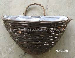 rattan wall basket wall planter rattan hanging basket hanging flower basket 2