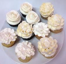 11 White Flower Cupcakes Photo White Flower Wedding Cupcakes