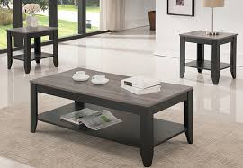 grey wood look table set for