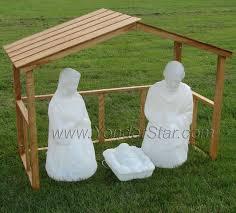 life size lighted outdoor nativity sets retrolisthesis light up 9 piece set yard decor white