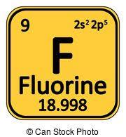 fluorine element periodic table. periodic table element fluorine icon. e