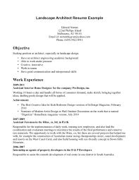 Job Wining Landscape Architecture Resume Template And Work