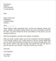 Format Of Official Letter Sample Formal Letter Format Threeroses Us