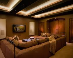 tray lighting ceiling. example of a trendy brown floor home theater design in san francisco tray lighting ceiling i