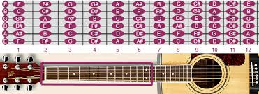 Fretboard With Notes On The Guitar