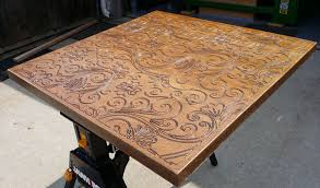 table recycled materials. Cnc Routed Table Top From Reclaimed Wood Door Recycled Materials N