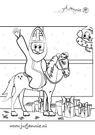 Sinterklaas Kleurplaten Juf Jannie Leren Met Kinderen