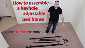 how to emble a keyhole adjule bed frame