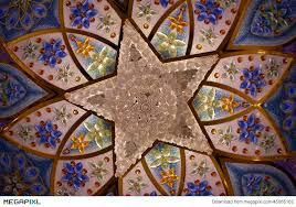 chandelier in sheikh zayed grand mosque abu dhabi uae