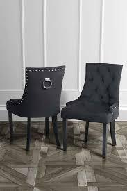 torino dining chair with back ring black velvet legs in black finish