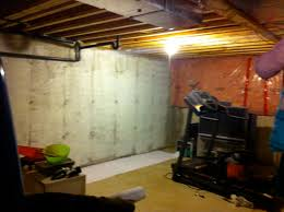 basement wall paintHouSeOnaShoestring Unfinished Basement Decorating