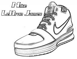 basketball shoes coloring pages getcoloringpages for lebron james and
