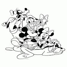 Kleurplaat Mickey Mouse Kerstmis