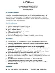 Free Professional Production Assistant Resume Template Sample ...
