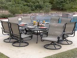 Outdoor Swivel Dining Chairs New La Salle 9 Piece Sling Patio ...