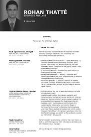 F&B Operations Analyst Resume samples