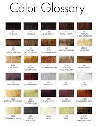 Bright Hair Color Chart Hair Color Chart
