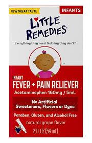 Infant Tylenol Dosage Chart 2017 Little Remedies Infant Fever Pain Reliever Natural Grape Flavor 2 Fl Oz