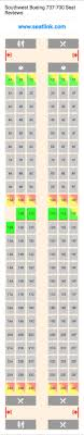 Southwest Boeing 737 700 Seating Chart Updated December
