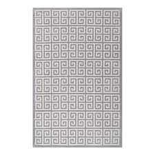 modway r 1013b 810 freydis greek key 8x10 area rug white and light gray