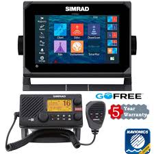 Simrad Go7 Hdi With Charts And 5 Years Warranty And Vhf