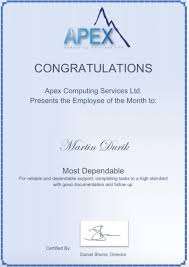 Employee Of The Month Award Martin Durik Receives The Employee Of The Month Award