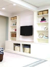 remodelaholic diy built in media wall unit with extra storage how to create a built in media storage unit starting with a set of wall unit ideas desk tv