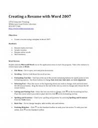 how to create a resume on microsoft word 2007 to create a resumes military bralicious co