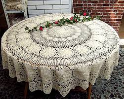 tablecloths ustide 60 inch white round tablecloth handmade crochet white cotton lace tablecloths elegant tablecloths offers