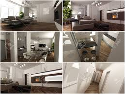 Modern Style Living Room 3d Interior Of The Studio Living Room In A Modern Style Stock