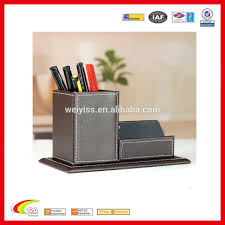 office desk business card case creative name card holder with pen container