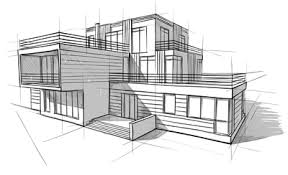 architectural house drawing. Unique House Architectural House Drawing Architecture Contemporary On T