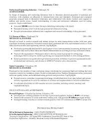 Sample Resume For Experienced Mechanical Engineer Doc