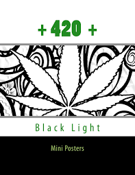 Black Light Coloring Posters 420 Black Light Mini Posters Pothead Adult Coloring