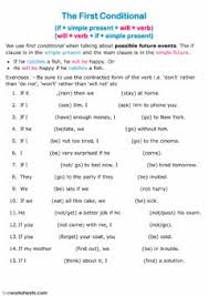 English Exercises The First Conditional