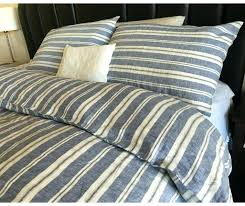 navy stripe doona cover nautical striped duvet handmade in natural linen and white a navy and white striped quilt cover