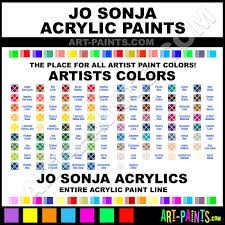 Jo Sonja Color Chart In 2019 Arty Bits Paint Color Chart
