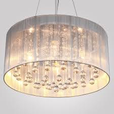 new modern fabric drum shade ceiling light chandelier